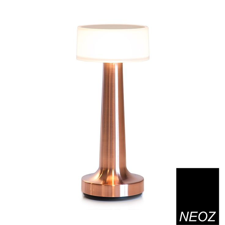 Neoz Cooee 2 Cordless rechargeable LED, lacquered copper table lamp