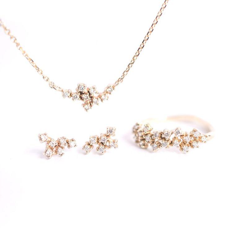 tiny diamond cluster set