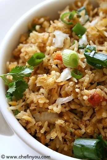 Rice, rice baby! This has red lentils in it, plus lots of aromatic spices. Cook this up and your house will smell heavenly.