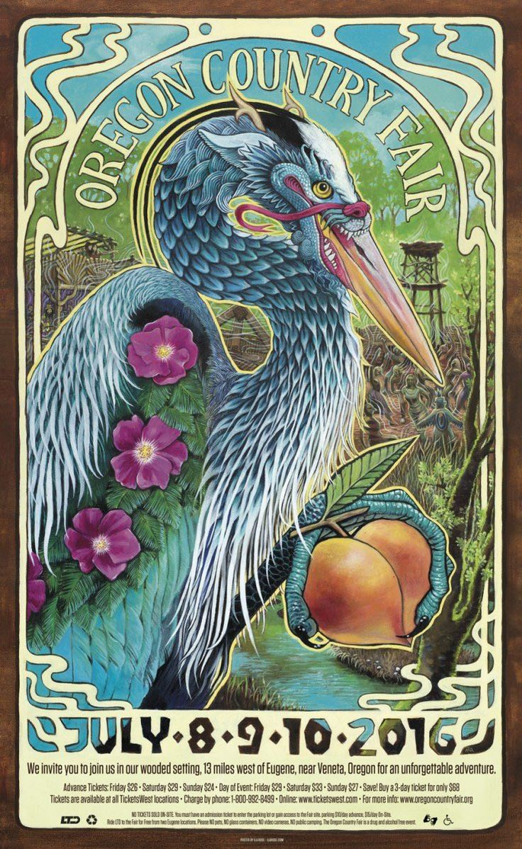 2016's Oregon Country Fair poster
