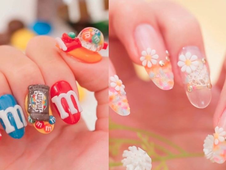 """We can't get enough of this Instagram account that posts the most elaborate Japanese nail art designs we've ever seen - When I'm not laughing at memes on Instagram, I'm usually watching video after video of mesmerizingdesigns.  Whether itstiny food orpancake art orcookie decorations , I can get lost in these clips for hours.  One of the most addicting accounts I've found is C ChannelBeauty , an """"online video lifestyle magazine """" based in Japan. While C Channel covers makeup, hair, and…"""