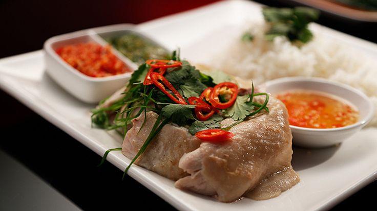 Hainan Chicken with Three Sauces