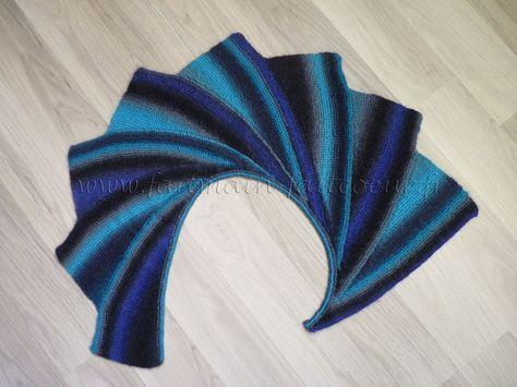 Patron gratuit pour tricoter une écharpe wingspan.