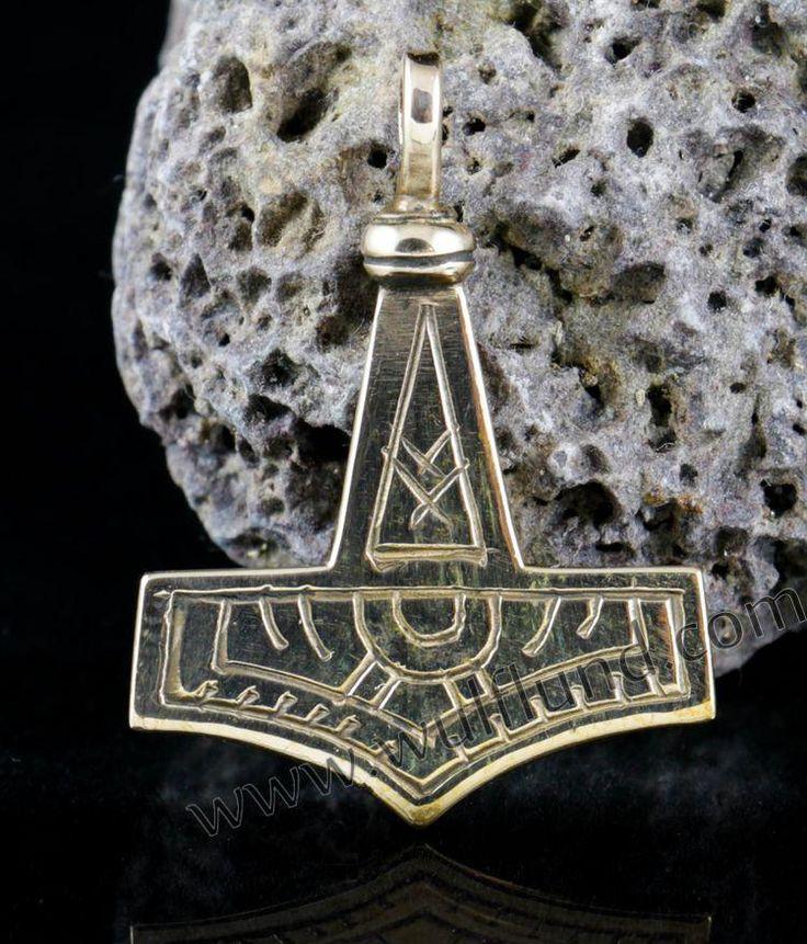 GOTLAND,+Marteau+de+Thor,+amulette+de+bronze