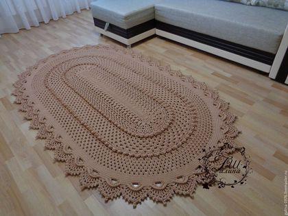 Вязаный текстиль для дома Ковры Пледы Чехлы 