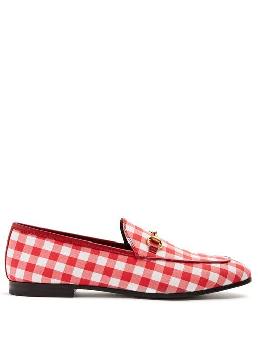 Gucci Jordaan gingham loafers