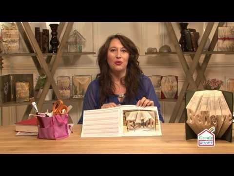 How to Bookfold a Single Word with Debbi Moore - YouTube