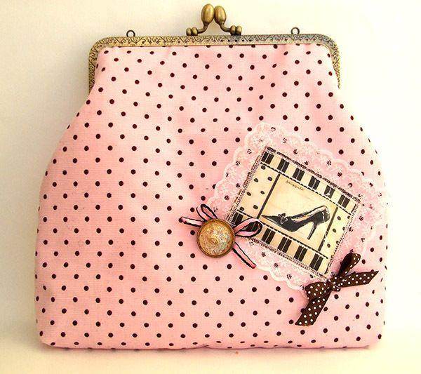 Handtasche Vintage-Tupfen von Lemasie Caprice auf DaWanda.com