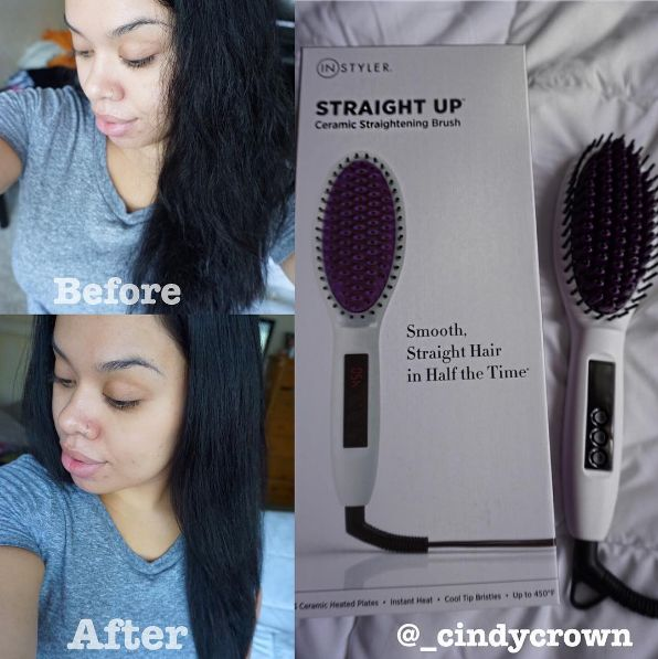 Use a straightening brush to brush your hair smooth instead of dealing with the…