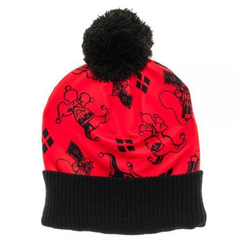(affiliate link) Batman Harley Quinn Sublimated Beanie with Pom