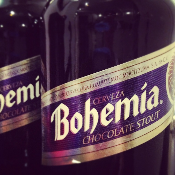 Cerveza Bohemia chocolate stout Mexico