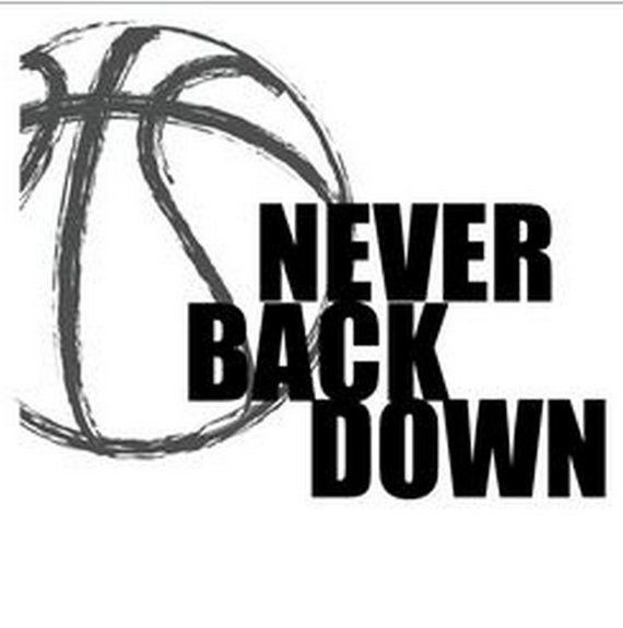 Never Back Down Basketball Short Sleeve T-Shirt by TeamASports