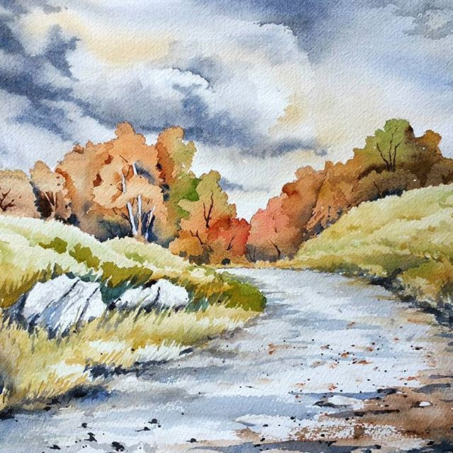 3861 best watercolour paintings images on pinterest - What temperature is too cold to paint outside ...