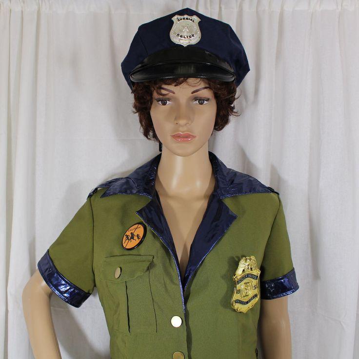 Womens Border Patrol Police Uniform Large Costume with Hat DreamGirl #Dreamgirl #Uniform #Halloween