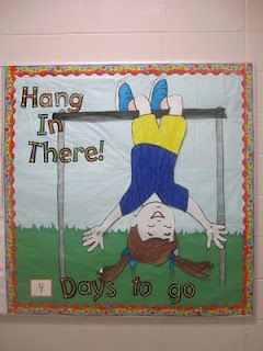 "END OF YEAR bulletin board or ""Hanging with a good book"""