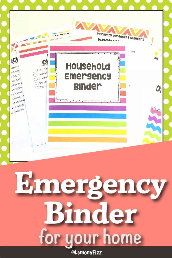 Create Your Own Family Emergency Binder: Quick and Easy Printable
