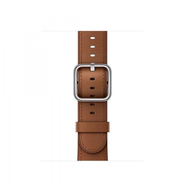Apple Klassisches Lederarmband für 42mm Apple Watch sattelbraun