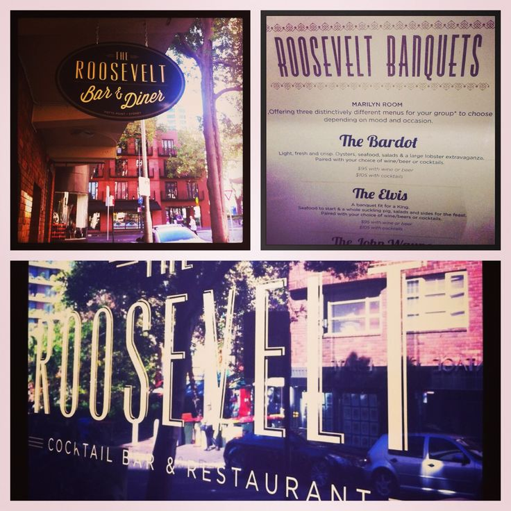 The Roosevelt Bar & Diner, 32 Orwell St, Potts Point.  1940's Hollywood in downtown Sydney. 'Here's lookin at you kid.  www.theroosevelt.com.au