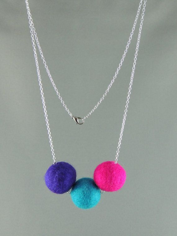 Hey, I found this really awesome Etsy listing at https://www.etsy.com/listing/177530685/beautiful-felt-ball-trio-purple-blue-and