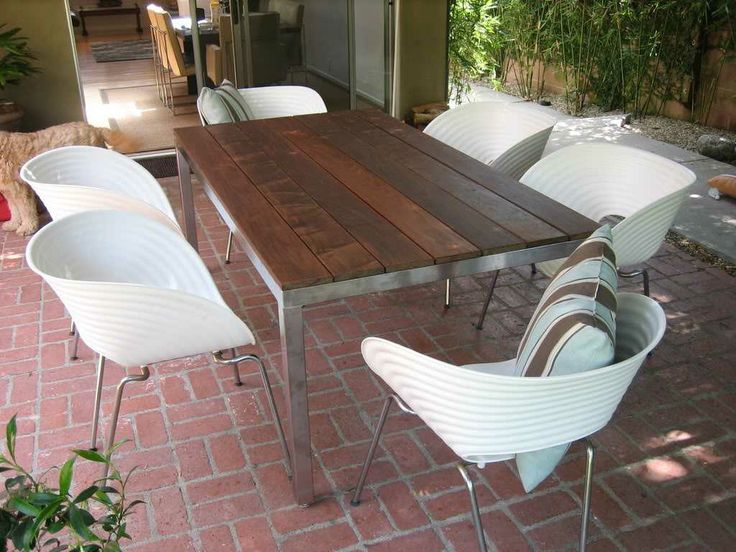 Pacific Palisades CA custom made Stainless Steel Outdoor Table