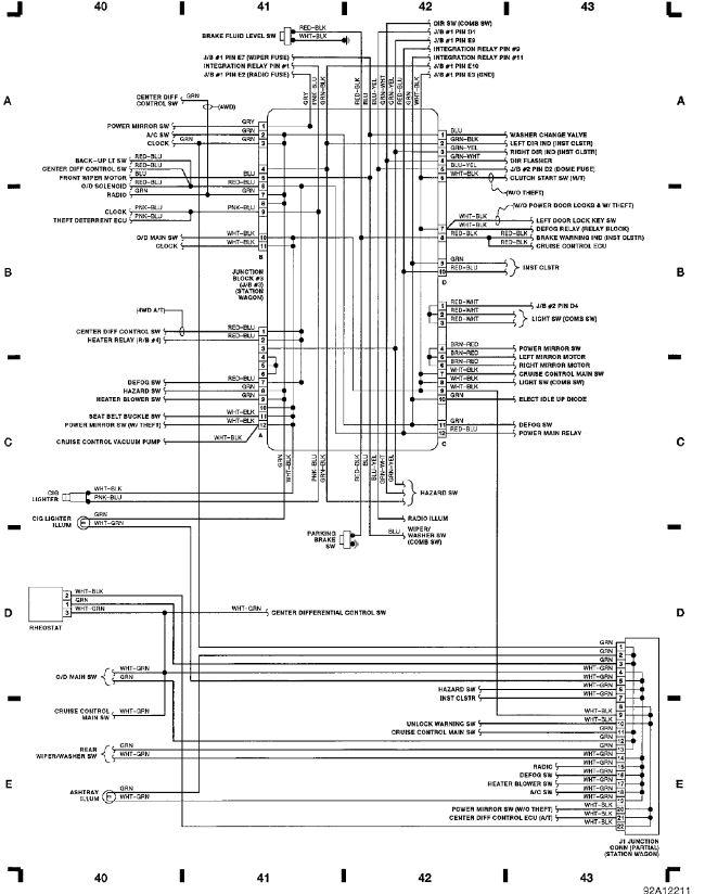 fig 11 junction block 3 station wagon grid 40 43 1991