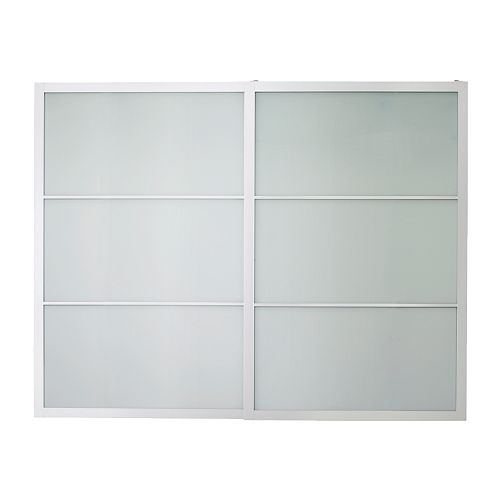 IKEA: Pax Lyngdal pair of sliding doors, glass, aluminum, $449; re-jigger these to be a sliding wall/room divider