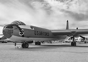 Convair B-36 Peacemaker with Strategic Air Command (SAC) shield