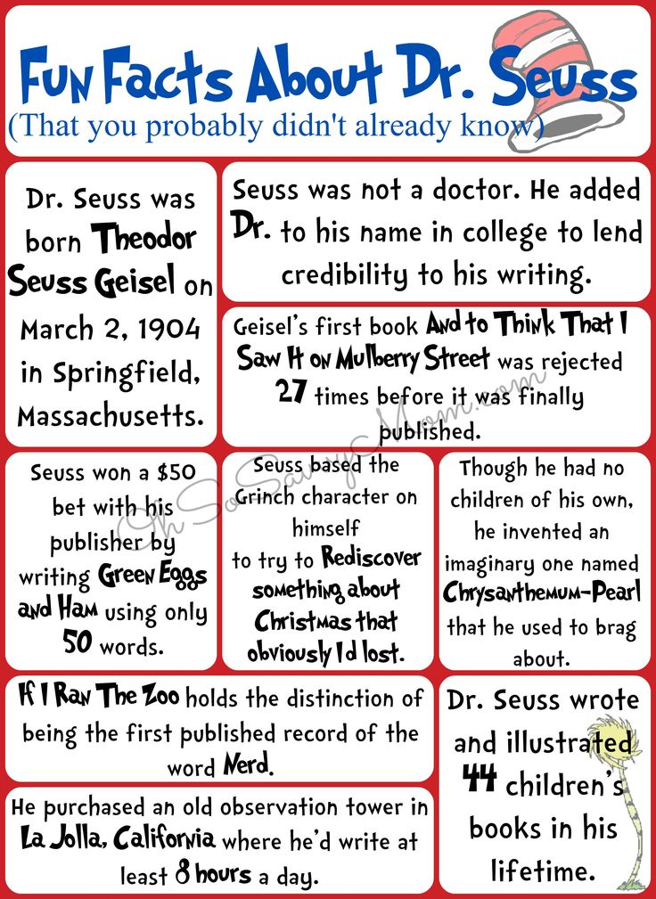 Fun Facts About Dr Seuss You Probably Didn T Know Free