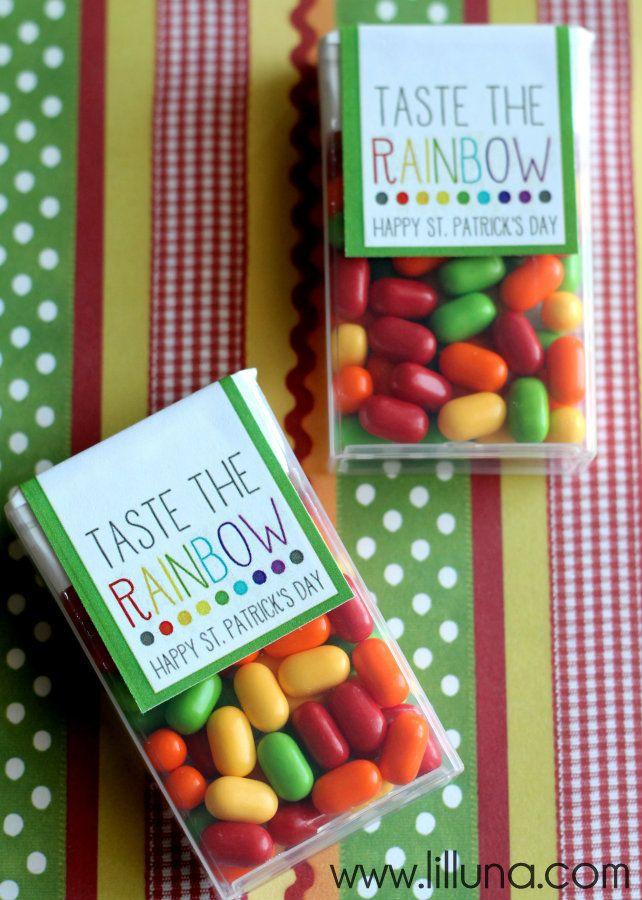 Taste the Rainbow Tic Tac Prints on { lilluna.com } #stpatricksday