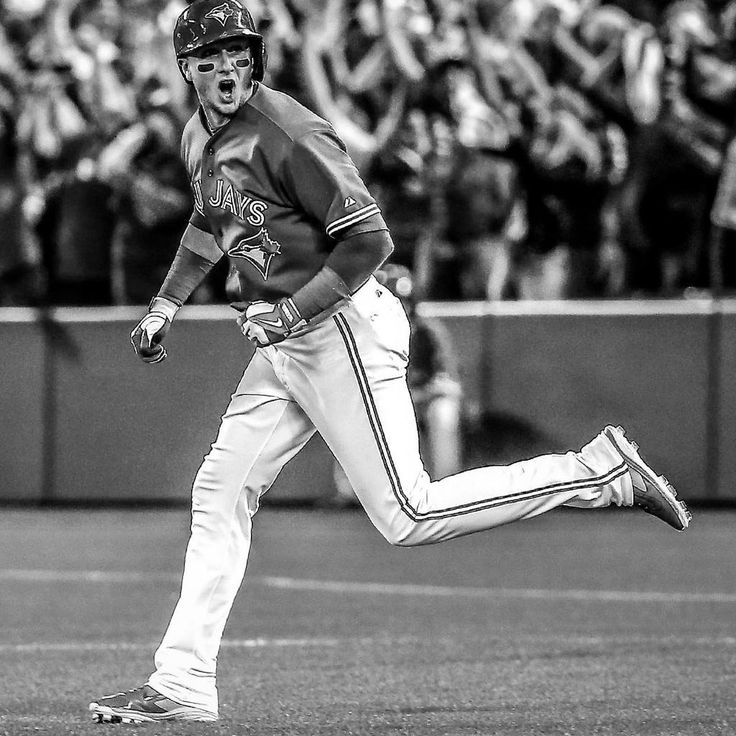 "Toronto Blue Jays' Troy Tulowitzki (""Tulo"") hits another 3-run homer in a game 3 when the Blue Jays are down 2 games to none in the 2015 MLB post season. ALCS. Kansas City Royals. Baseball."