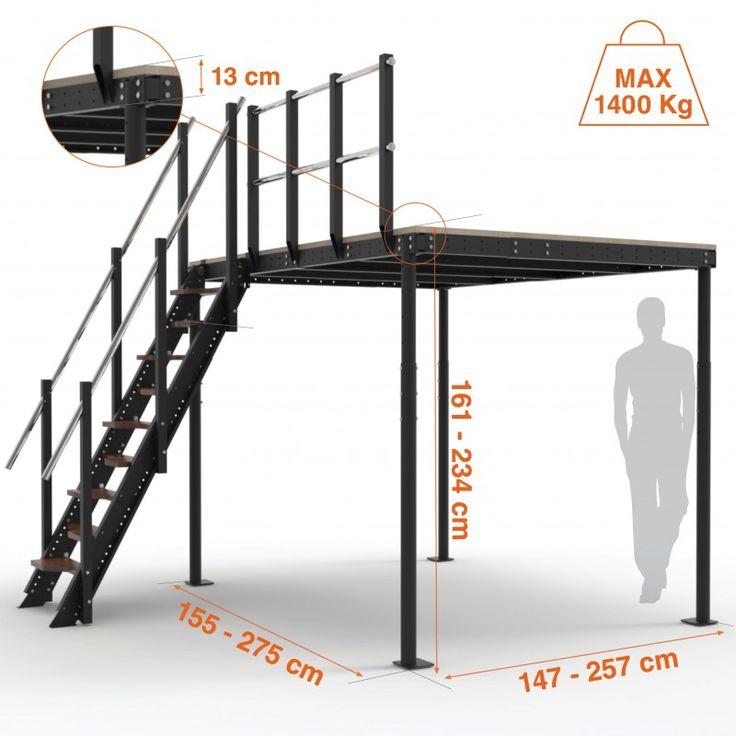 Altillo T8 + Escalera S62-T8  El Altillo Híbrido T8 con escalera S62-T8, es un producto muy demandado por nuestros clientes, donde la superficie a cubrir es pequeña, pero se desea un acceso cómodo a la misma.