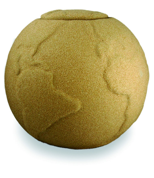 Urna Funeraria para cenizas 100% biodegradable. Serie Jeremiel Modelo Natur Sand.
