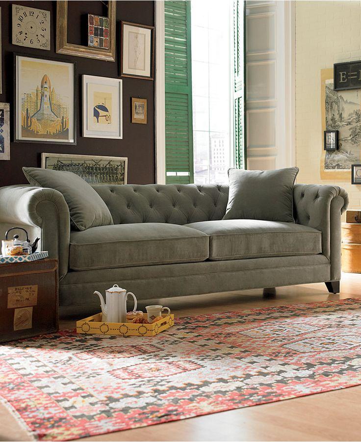 Martha Stewart Collection Saybridge Fabric Sofa: Custom Colors - Furniture - Macy's