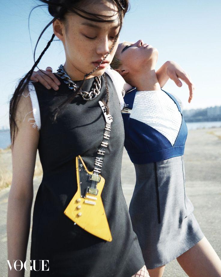 Lee Ji, Kim Seol Hee by Yoo Young Gyu for Vogue Korea Feb 2016
