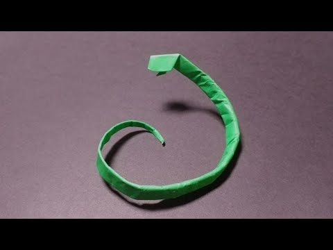 How to make origami snake - YouTube