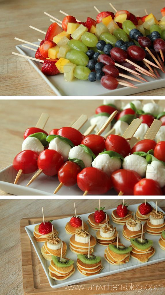 Appetizers just like the ones Amy made for Jessie's bridal shower. She drizzled high-end Balsamic Vinegar over her tomato-mozzarella-basil skewers.