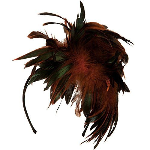 Peacock Multi Color Fascinator  Orange *** Click image to review more details.