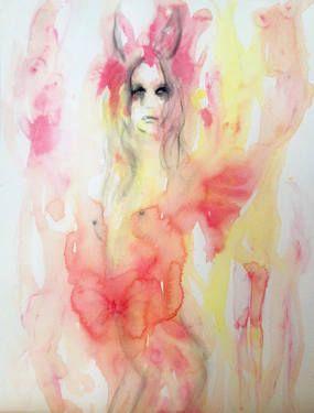 "Saatchi Art Artist Fiona Maclean; Painting, ""Maya"" #art #saatchiart"
