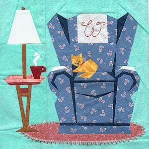 cozy paper piecing block.  What a great looking quilt block.  Peace, Robert from nancysfabrics.com