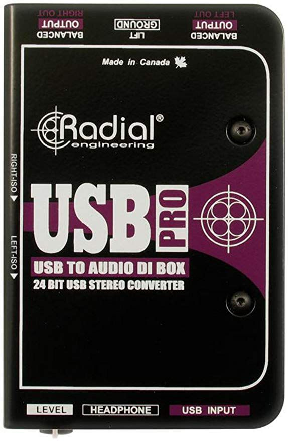 Radial Usb Pro 2 Channel Active Instrument Direct Box Direct Boxes Usb Stereo