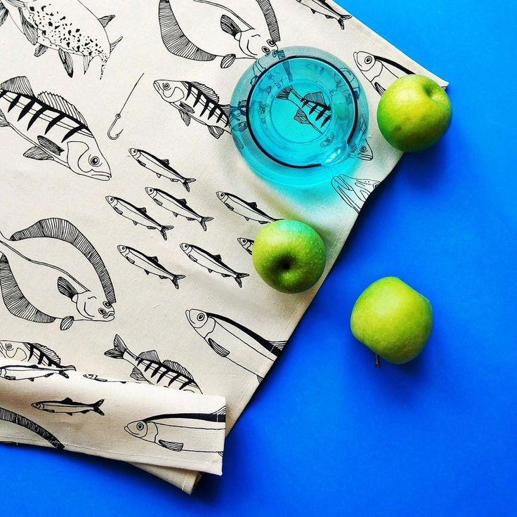Svante Tea Towel  Hand printed & 100 % hemp. Available in the webshop now !