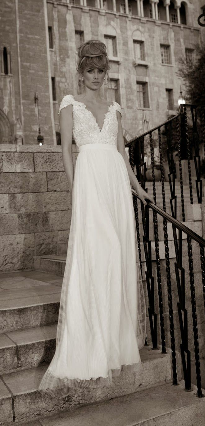 Lisa robertson in wedding dress - Tal Kahlon 2013 Bridal Collection