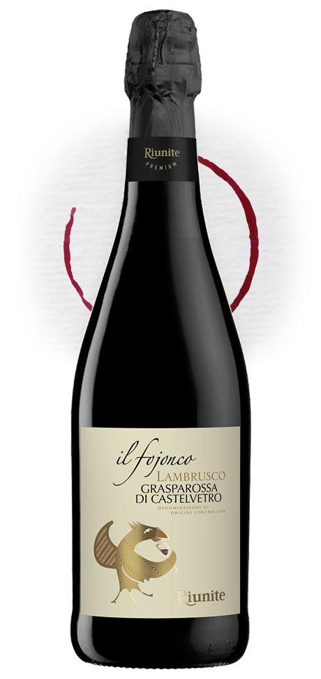 "Redesign of ""Fojonco"", Lambrusco DOC for #Riunite. #packaging #design"