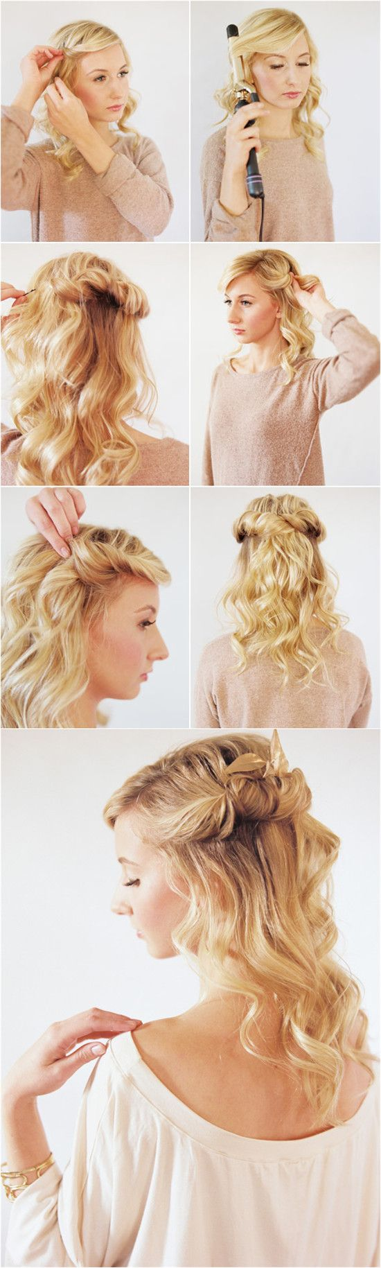 48 best hairstyles tutorial images on pinterest hairstyle real best 6 wedding hairstyle tutorial with 20 inch hair extensions baditri Image collections