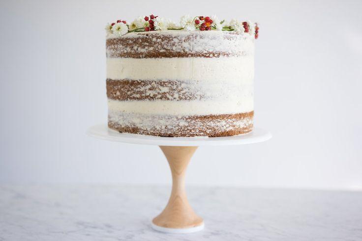 spiced pumpkin cake with vanilla german buttercream - cloudy kitchen