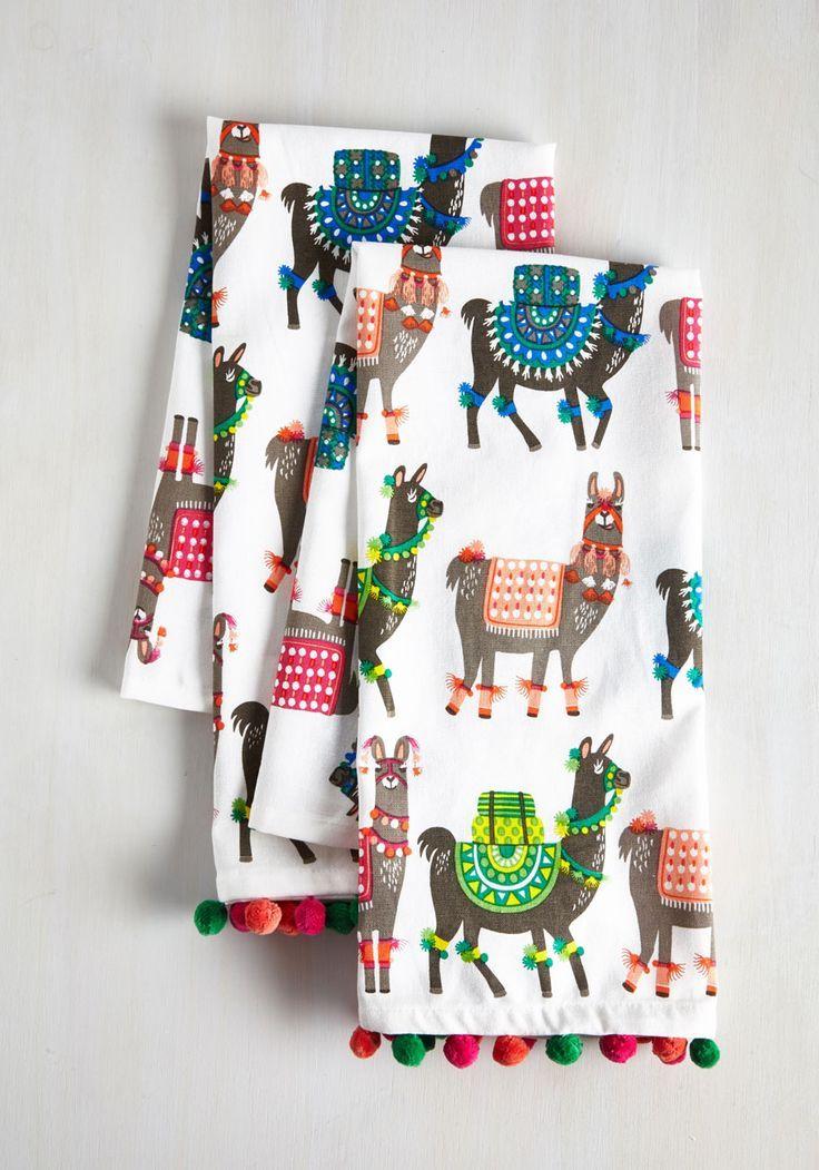 llama tea towel set
