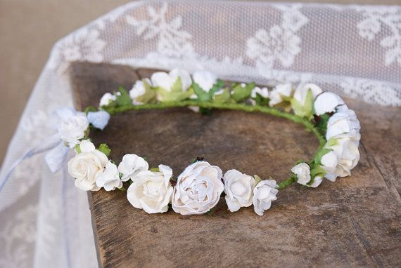 floral crown flower crown wedding floral crown bridal by mamwene