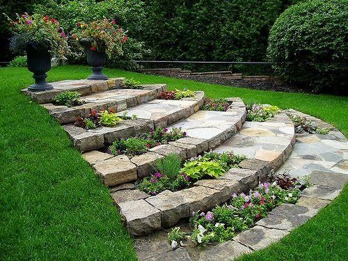 Beautiful steps in garden