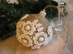 Handmade Christmas ornament (Would be cute on a vase or something) by mollie