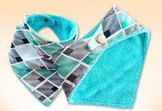 Easy Sewing Projects | Free Sewing Pattern for Beginners | DIY Bandana Bib for Baby | DIY Projects & Crafts by DIY JOY at http://diyjoy.com/how-to-sew-diy-bandana-bibs